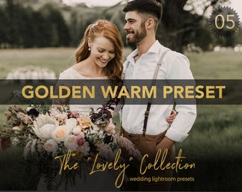 Golden Warm Professional Wedding Lightroom Preset - LVY 05 - The Lovely Collection by Shae Estella Photo