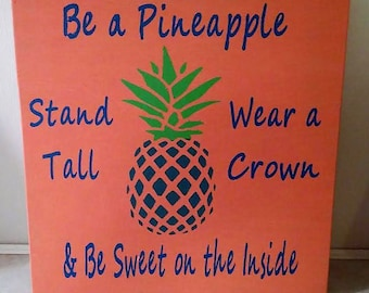 Pineapple Picture Board Wall Decor