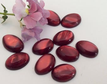 Cabochon Vintage Designer quality Resin 1960's Iridescent Domed Style Options