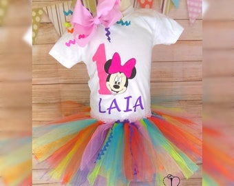 Minnie Mouse Tutu Birthday Outfit
