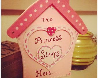 Princess sleeps here plaque