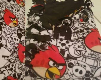 angry birds reversible fleece blanket