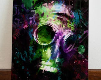 WK Gas Mask  - Canvas / Giclee