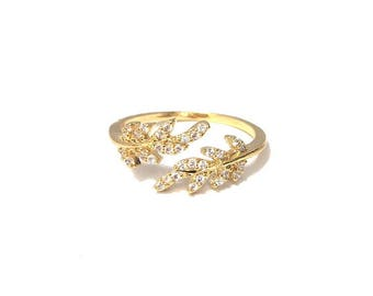 Secret Garden Ring Gold Adjustable by Sam Ozkural x Au Courant Jewelry