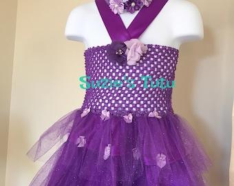 Flower Girl Dress, Girls Tutu Dress, Girls Purple Dress, Girls Holiday Dress, Tutu Dress, purple Tutu Dress