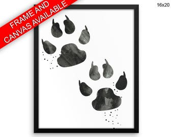 Bear Paw Prints  Bear Paw Canvas Wall Art Bear Paw Framed Print Bear Paw Wall Art Canvas Bear Paw Living Room Art Bear Paw Living Room Print