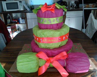 Barbell Diaper Cake
