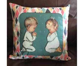 Praying Children Pillow