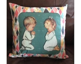 Praying Children Pillow