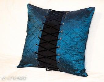 Cushion Corset blue and black 50 cm x 50 cm