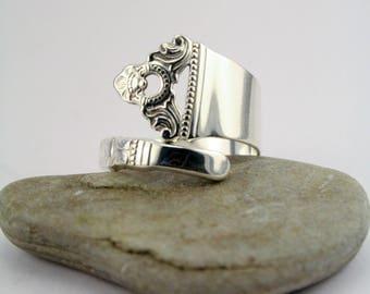 """Handmade Norwegian Silverspoon Ring """"Odel"""""""