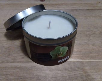 Vanilla scented soy candle all natural and hand poured