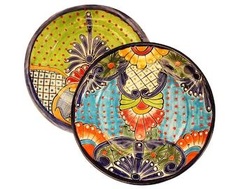 "Talavera plates from 10.4 ""handmade, Set of 2"