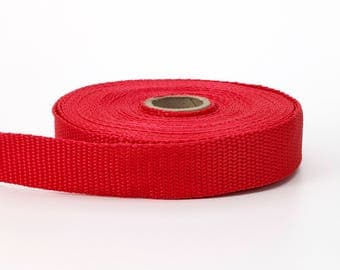 "Polypropylene webbing, 2"" Wide, 10 yds, Red"