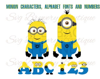 Minions Numbers Etsy - Custom vinyl decals numbers for shirts