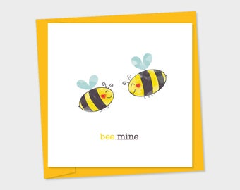 bee mine – two bees, heart shape on cheeks