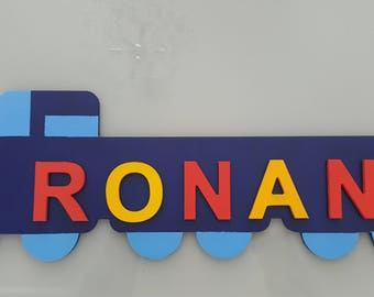 Large childs wall plaque personalised gift