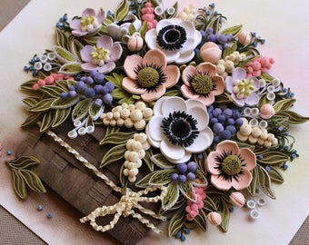 Forest Basket of Anemones