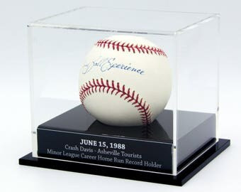Laser Engraved Baseball Display Case - Clear Acrylic
