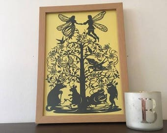 Thumbelina Paper Cut Paper Cutting Art