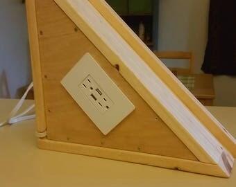 Corner Shelf w/Outlet & USB