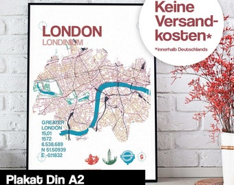 Poster - London map