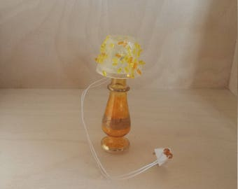 Glass Electric Dollhouse Lamp