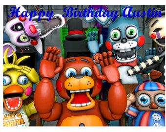 Five Nights at Freddy's edible cake topper, FNaF 3 party edible cake image cake topper frosting sheet