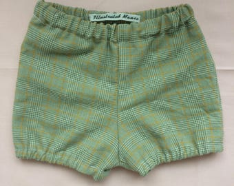 Green/Yellow Vintage Style Baby Bloomers