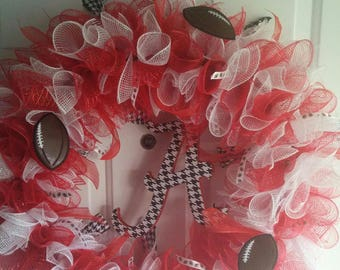 Alabama Houndstooth Accented Wreath