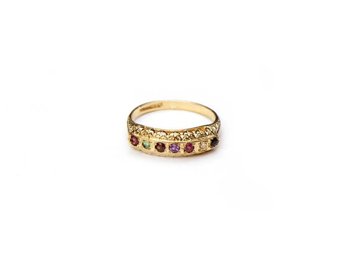 45% SALE! Gemstone and Diamond Ring