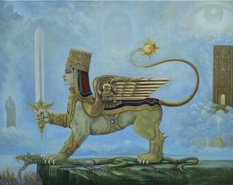 Fine Art Giclee Print Painting Titled Armenian Pride