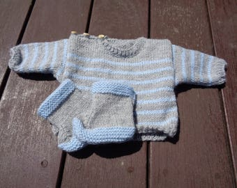 Sweater and matching booties