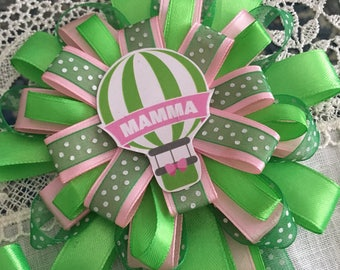 "Baby shower corsage-Cockade ""Mom"""