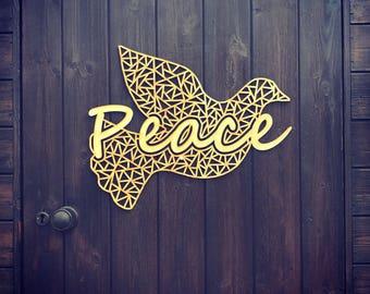 Peace GEO Dove wall decor Small