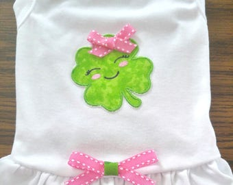 Cute Shamrock Dog Dress