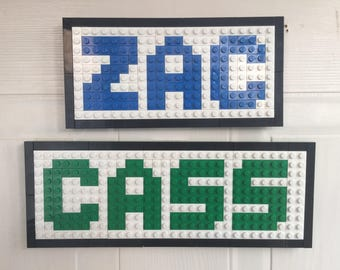 Lego door signs / name plates