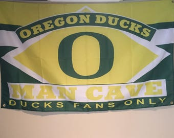 Oregon Ducks Man Cave Wall Flag