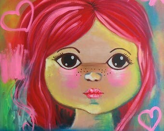 Urban Art - Girl Painting - Modern Abstract Portrait Painting
