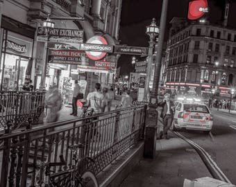 Piccadilly Circus - London, UK, Night photography, Night photography, Travel, Fine Art Photography, Street Photography, Urban