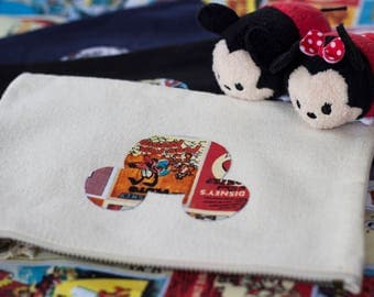 Disney Classic Mickey & Minnie Poster Print Canvas Pouch