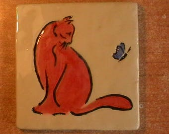 Cat and butterfly 3