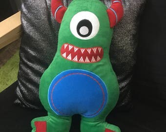 MARTY MONSTER weighted soft toy, 1kg poly pellets, autism, ADHD, sensory toy, occupational therapy, calming,