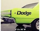 1950-2017 Dodge Mopar Viper Charger Hellcat Windshield Body Decal New 1PC Ram Hellcat Challenger