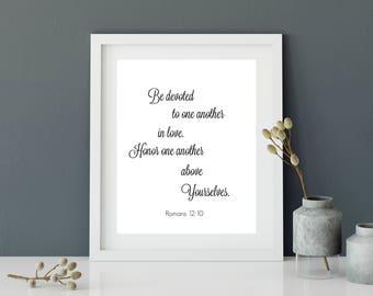 Christian Wall Art Print, Wedding Gift, Printable Wall Art, Christian Gift,Bible Verse Print, Scripture art, Instant download.