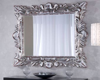 Mirror silver leaf with red CHAN