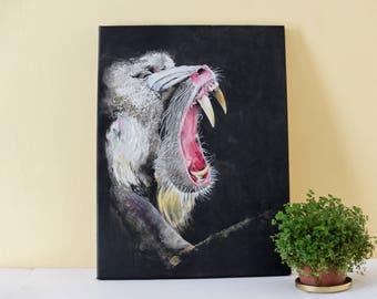 "Acrylic paint ""mandrillus sphinx"""