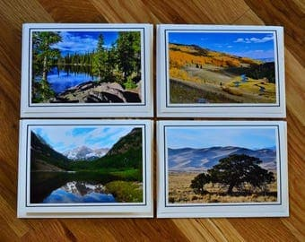 4-pack Colorado landscape 5x7 photo greeting cards