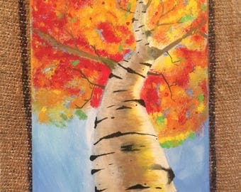 Fall Time Tree Hand-Painted Acrylic on Canvas