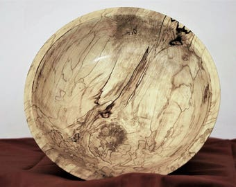 bowl, medium size, spalted sycamore